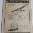 Megow's Models 1937 Catalog Model Ships Aircraft Airplanes Planes Boats Ocean Liners Biplanes