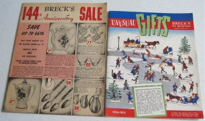 Brecks of Boston 1954 Christmas Catalog plus 1961 Sale Catalogue Novelties Gifts Housewares Kitchen