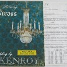 Lighting by Kenroy Featuring Strass 1969 Catalog Crystal Chandeliers Ceiling Fixtures Sconces