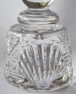 1950 Val St Lambert Crystal Glass Candleholder Signed Charles Graffart Seashell 18/22 VSL Belgian