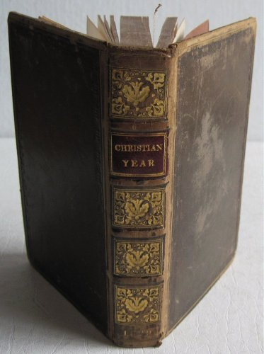 1829 Christian Year 5th ed by John Keble Full Leather Church of England Verse Prayers Christianity