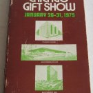 99th Semi-Annual Chicago Gift Show Directory 1975 Housewares Glass Silver Baskets Ethnic