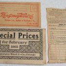 Montgomery Ward February 1905 Sale Catalog Original Illustrated General Merchandise