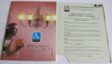 1971 Artcraft Catalog Lighting Lexicon No.71 Chandeliers Pendant Lights Ceiling Fixtures