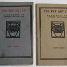 1910 and 1922 Fry Art Co Catalogue of Artists' Materials Paint Brushes Ink Kilns Lot of 2 Catalogs