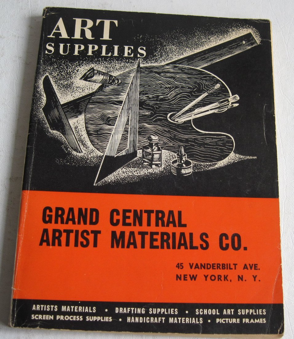 1955 Grand Central General Catalog Artists' Materials Catalog Scribers Drawing Instruments Paints