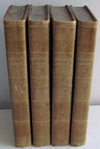 1823 Life of Samuel Johnson LLD by James Boswell 4 Vols Letters Literary Works