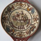 Antonio Olave Cusco Peru Hand Painted Terra Cotta Art Pottery Dish Ancient Incan Motif South America