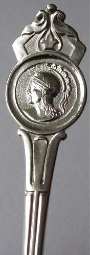 Antique Coin Silver Medallion Dinner Fork JW Tucker San Francisco 19th Century
