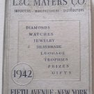 1942  L&C Mayers Catalog Gold Jewelry Silver Watches Luggage Small Appliances Pens Compacts 400 pgs