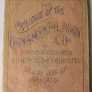 19th Century Catalogue No.5 of the Ornamental Horn Co Original Hand Colored Scarce 20p