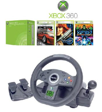 "XBOX 360 ""Racing Bundle"" Video Game System and Wheel"