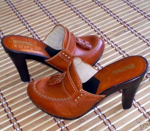 Michael Kors leather Platform Sandals Heels Shoes 8.5