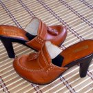 Michael Kors leather Platform Sandals Heels Shoes 8.5