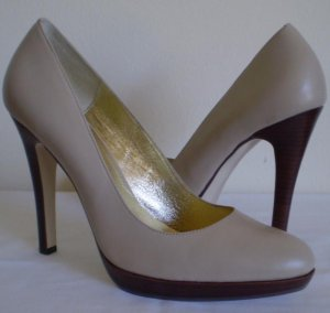 Nine West Meaden Leather Platform heels pumps 9.5