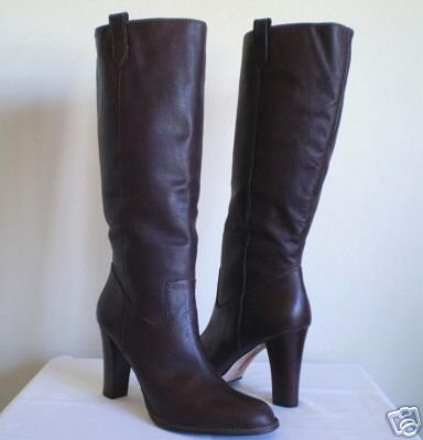 Banana Republic Stitch Brown Leather Tall Boots New 11