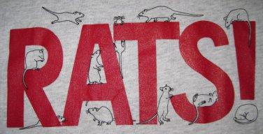 Grey RATS! T-Shirt - Size M