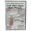 Colt 1911 .45 Auto DVD Technical Manual & Armorer's Course American Gunsmithing Institute (AGI)