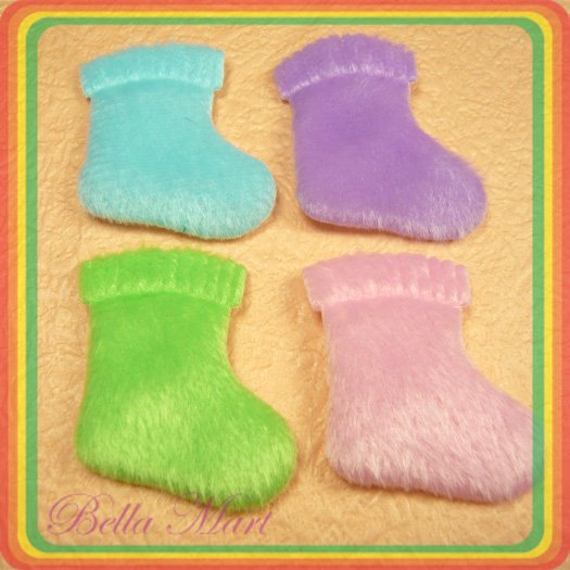 100 Mix Sock Applique Sew/Cloth/Cute/Embellishment A030