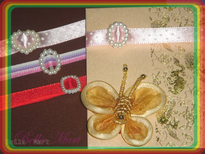 60 Mini Mix Plastic Beads Craft/Card Topping/Wedding