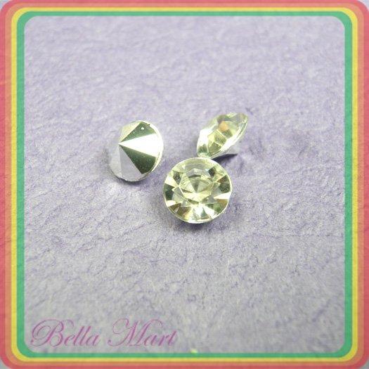 180 Diamond Hot Fix Rhinestone Loose Gem 8mm Silver R11