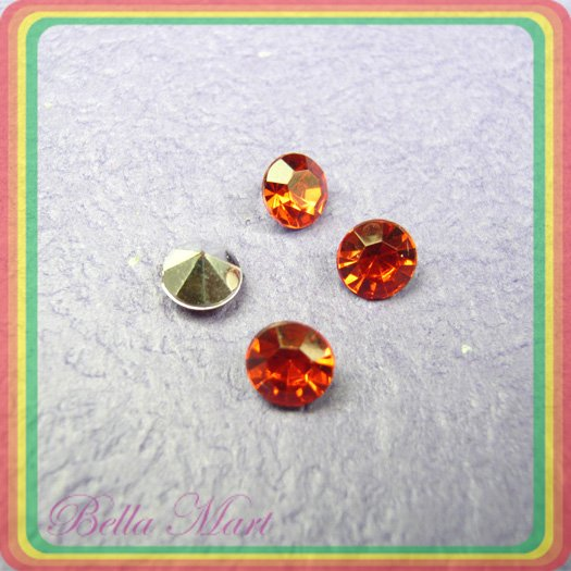 480 Diamond Hot Fix Rhinestone Loose Gem 6mm Red R013