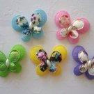 25 pcs Satin/Felt Japanese Floral Butterfly Applique