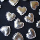 100 Padded Mini Hearts Shiny Applique