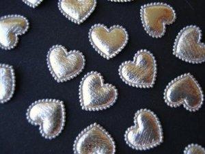 100 Padded Mini Hearts Shiny Applique