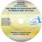 DELL Latitude ATG D630 Driver Recovery  Disc CD/DVD