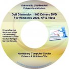 Dell Dimension 1100 Drivers Restore Recovery DVD