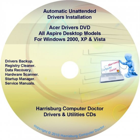 Acer Aspire Desktop Drivers Recovery Master DVD