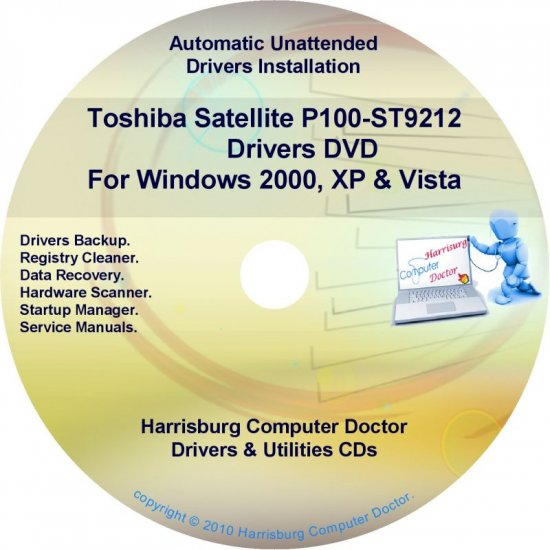 Toshiba P100-ST9212 Satellite Drivers Recovery CD/DVD