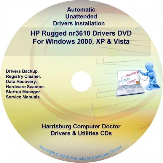 HP Rugged nr3610 Driver Recovery Disc CD/DVD
