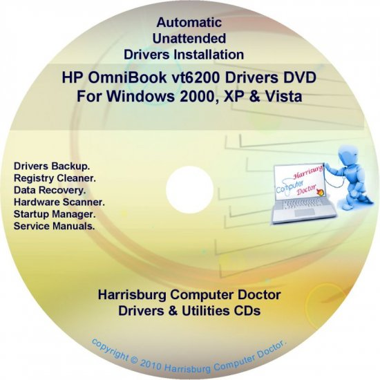 HP OmniBook vt6200 Driver Recovery Disc CD/DVD
