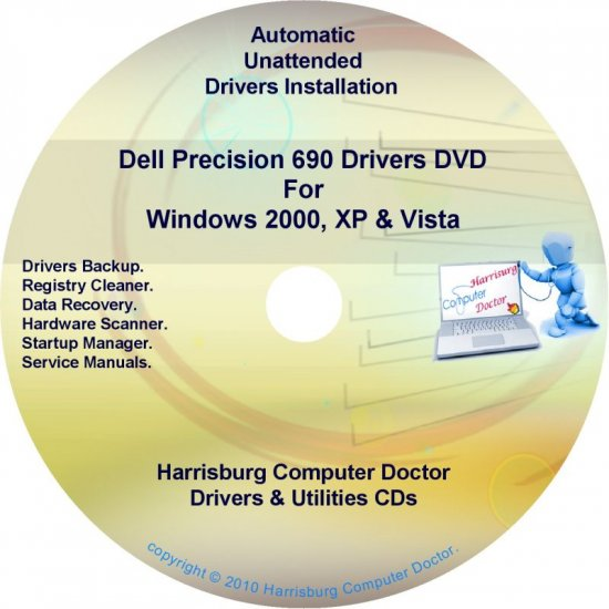 Dell Precision 690 Drivers Recovery Disc Disk CD/DVD