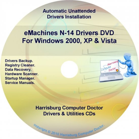 eMachines N-14 Drivers Restore Recovery CD/DVD