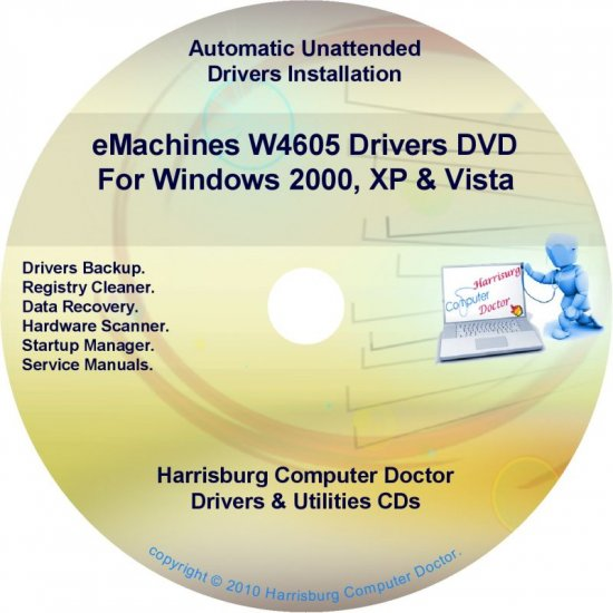 eMachines W4605 Drivers Restore Recovery CD/DVD