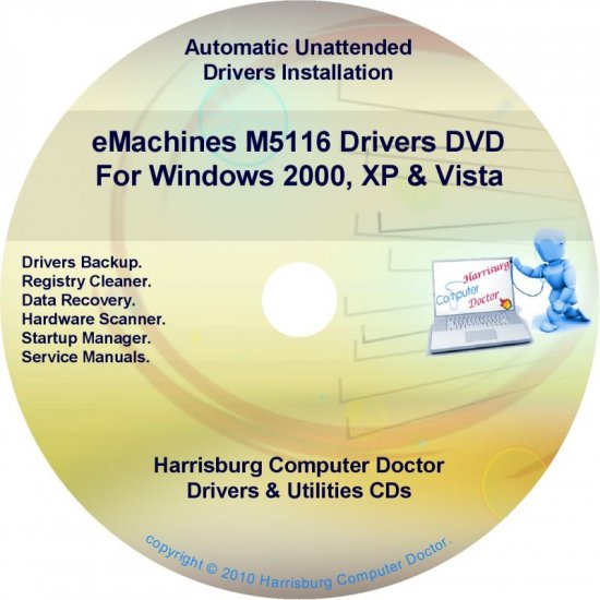 eMachines M5116 Drivers Restore Recovery CD/DVD