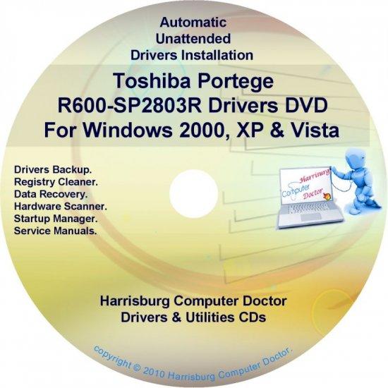Toshiba Portege R600-SP2803R Drivers Recovery CD/DVD