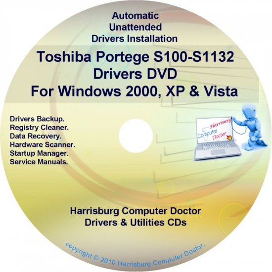 Toshiba Portege S100-S1132 Drivers Recovery CD/DVD