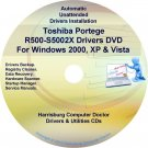 Toshiba Portege R500-S5002X Drivers Recovery CD/DVD