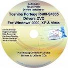 Toshiba Portege R400-S4835 Drivers Recovery CD/DVD