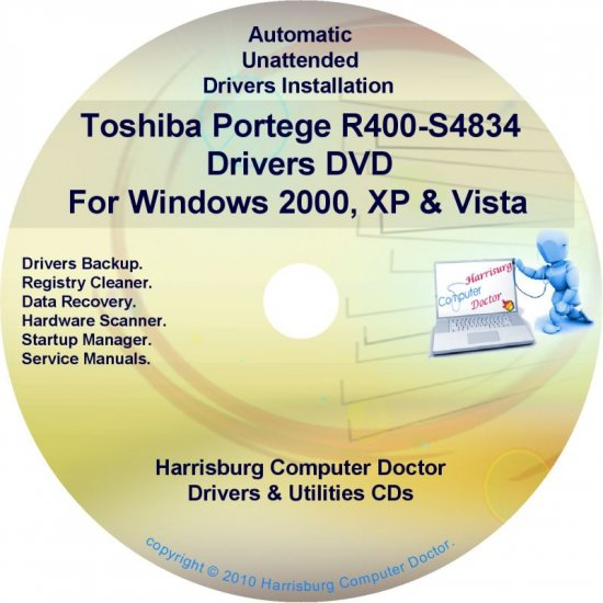 Toshiba Portege R400-S4834 Drivers Recovery CD/DVD