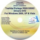 Toshiba Portege R500-S5002 Drivers Recovery CD/DVD