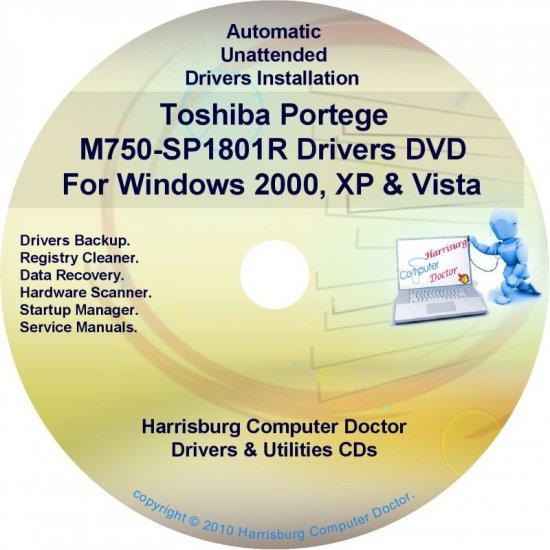 Toshiba Portege M750-SP1801R Drivers CD/DVD