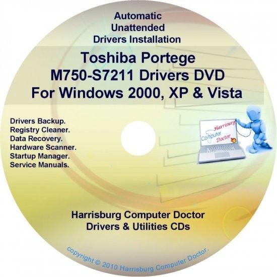 Toshiba Portege M750-S7211 Drivers Recovery CD/DVD