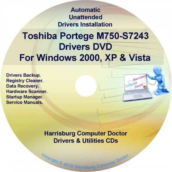Toshiba Portege M750-S7243 Drivers Recovery CD/DVD