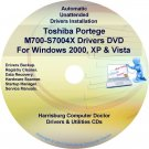 Toshiba Portege M700-S7004X Drivers Recovery CD/DVD