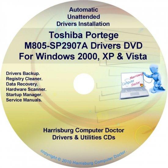 Toshiba Portege M805-SP2907A Drivers Recovery CD/DVD